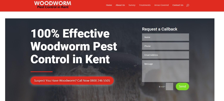 Woodworm pest control kent